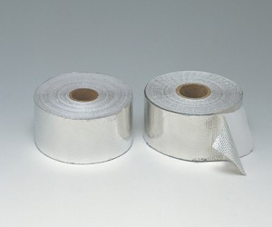 アルミ箔付粘着ガラステープ